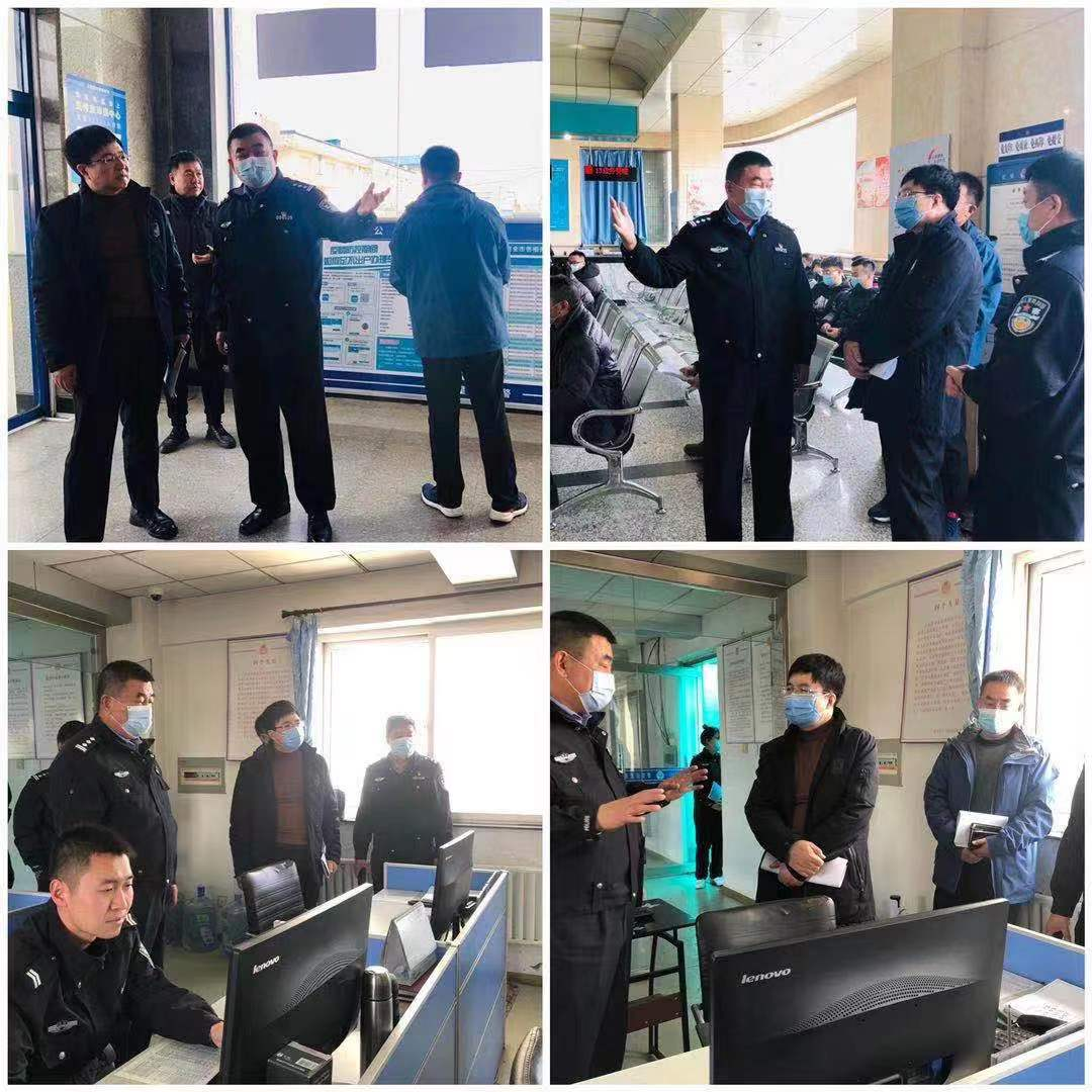 秦皇岛市政府信息处处长刘善刚一行到支队车管所调研工作